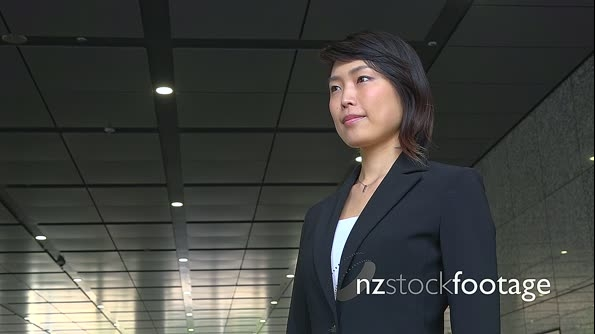 Confident Happy Successful Asian Business Woman Businesswoman Smiling At Camera 26645