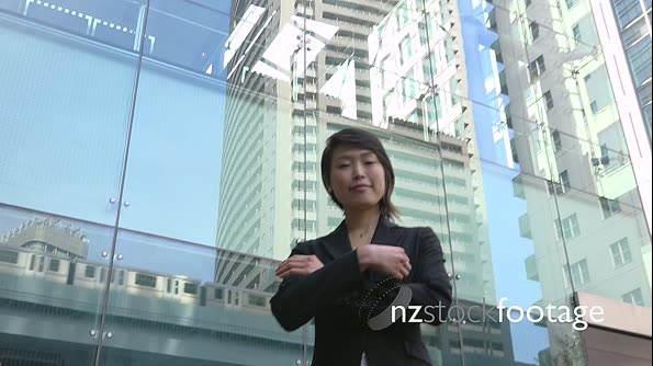 Successful Happy Successful Asian Business Woman Businesswoman Smiling At Camera 26650