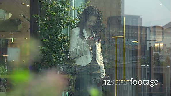 Business Woman Asian Businesswoman With Smartphone In Office Building 26677