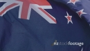 New Zealand Flag in slow motion 26697