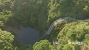 aerial of Waterfall at KareKare, Auckland 26699