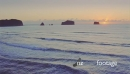 Aerial of sunrise on whangamata beach, Coromandel, New Zealand 26734