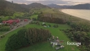 Aerial of campground at Waikawau Bay, Coromandel Peninsula, New Zealand 26747