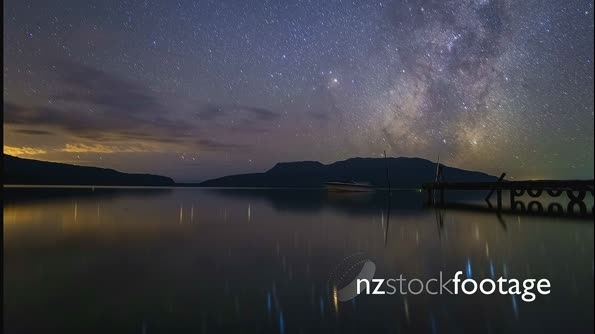 Milky Way Over Lake 26756