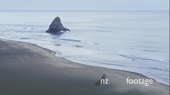 Aerial drone over karekare beach, Auckland, New Zealand 26819
