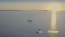 Aerial flying over yatch near Rangitoto island at Sunrise, auckland 26886