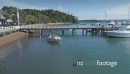 Aerial of Russell town, pier & harbour with boats, New Zealand 26900