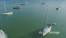 Aerial of sailing boats in the Bay of Islands, New Zealand 26902