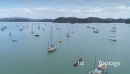 Aerial flying over sailing boats Bay of Islands, New Zealand 26910