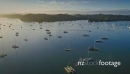 Aerial flying over sailing boats in the Bay of Islands, New Zealand 26939