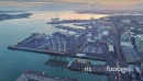 Aerial View Of Auckland City shipping port, New Zealand 26953