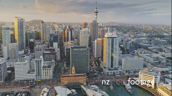Auckland City Aerial View Skyline, New Zealand 26956