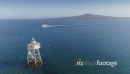 Aerial View Of bean rock lighthouse, auckland, New Zealand 26961