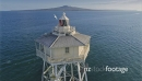 Aerial View Of bean rock lighthouse, auckland, New Zealand 26962