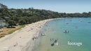 Aerial flying over Oneroa bay, waiheke island, Auckland, New Zealand 26978