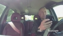 Car Driver Using Smartphone For Email Internet And Driving Car 26998