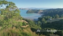 Aerial flying over omaru bay on waiheke island, Auckland, New Zealand 27001