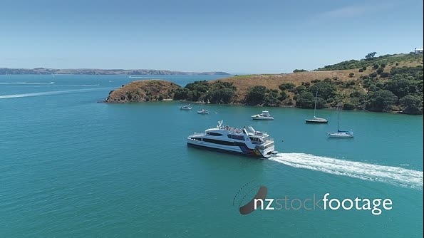 Aerial view of ferry at waiheke island, Auckland, New Zealand 27006