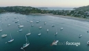 Aerial flying over boats on  little Oneroa beach, waiheke island, Auckland 27008