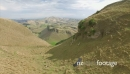 Aerial down a farm valley over sheep at Te Mata Peak, New Zealand 27103