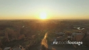 Christchurch Sunset Canterbury Plains Flyover NW Rural Houses Aerial 27116
