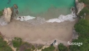 Aerial over Cathedral Cove beach,  New Zealand 27149