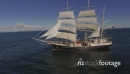 Flying close to Tall Ship - Sails up 27384