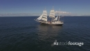 Flying over Tall Ship - Sails up 27385