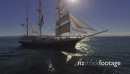 Flying around Tall ship - Sails up - Sunlight 27388
