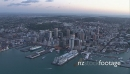 Auckland City Downtown Aerial Dusk Wide 1 27410