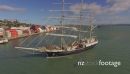 Tall Ship - Towards port - Containers - Sails down_1 27430