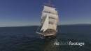 Tall Ship - Sails up - Front view 27434