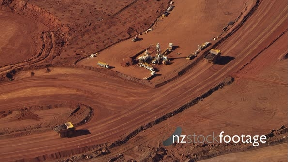 Open Cut Mine In Western Australia Iron Ore Dump Trucks 9_0101OL 27721