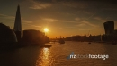 Sunset Timelapse View of the river Thames in London, England, UK 27742