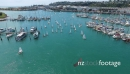 Optimist yachts leaving Napiers inner harbour and heading out into Hawkes Bay 28177
