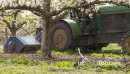 mulcher orchard in slow motion 28178