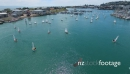 Optimist yachts leaving Napiers inner harbour and heading out into Hawkes Bay 28179