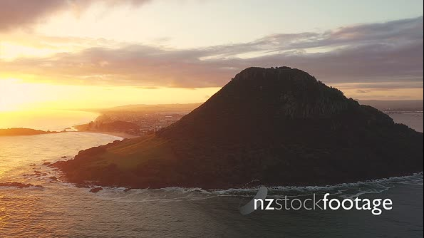 Mount Maunganui At Sunrise From Above 28203