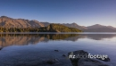 Sunset over mountain range and lake at Bobs Cove, Queenstown, New Zealand 28275