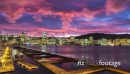 Timelapse of Sunset Over Wellington Harbor and city 28280