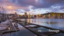 Timelapse of Sunrise Over Wellington Harbor and city 28281