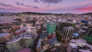 Colorful day to night sunset time-lapse during rush hour in Wellington city 28330