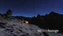 Tent on mountain range under night sky 28345