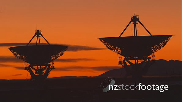 Very Large Array Radio Telescopes Sunset TIMELAPSE 29026