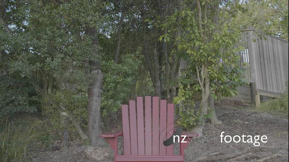 Empty Red Wooden Chair in Yard  29316