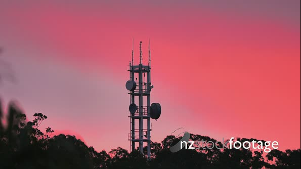 Sunset Red Antenna Tower  29569