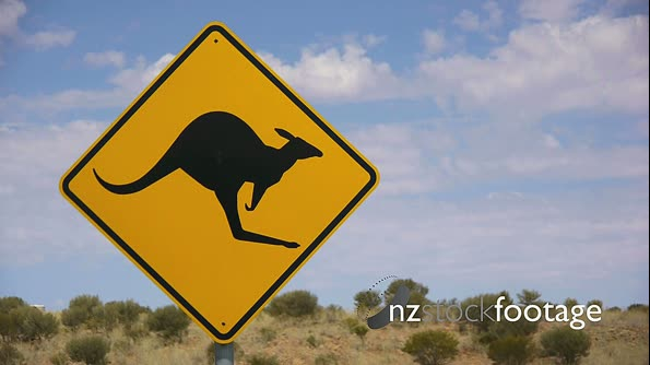 Kangaroo Road Sign 1 3719