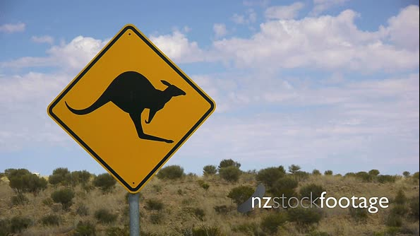 Kangaroo Road Sign 2 3720