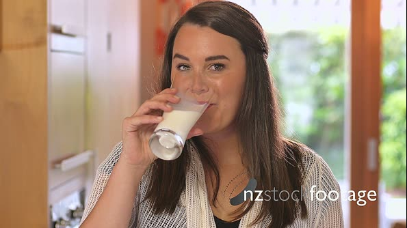 Woman Drinking Milk 2 4452