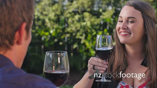 Couple Drinking Red Wine 5 4474